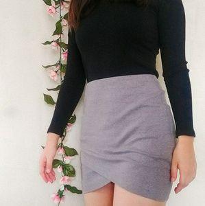 Gray Wrap Skirt